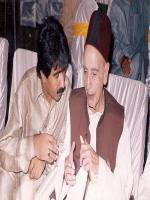 Nawabzada Nasrullah Khan with Hameed Bhuto