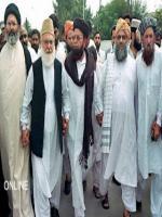 Maulana Shah Ahmad Noorani With Qazi Hussain Ahmed