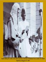 Sir Abdur Rashid Taking Oath
