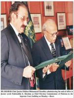 Fakhruddin G. Ebrahim Taking Oath