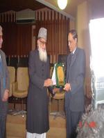 Muhammad Afzal Zullah Reciving Award