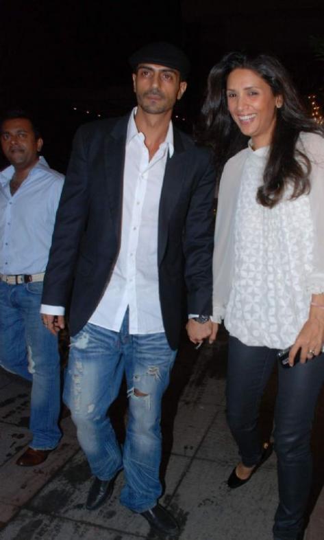 Arjun Rampal and his wife Mehr Jessia