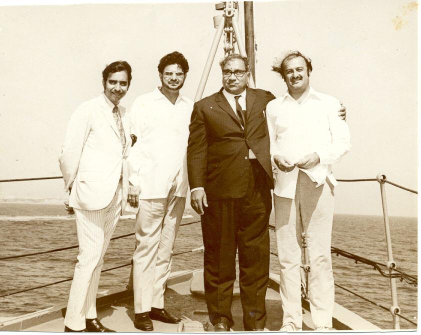 Mahmud Ali Kasuri at Pak-Navy Ship