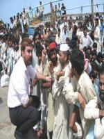 Ansar Burney with Refugies