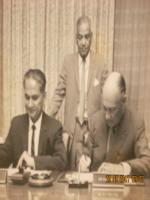 Aftab Ghulam Nabi Kazi Signing Agreement