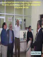 Anwar Naseem Visiting Human DNA Bank