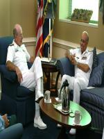 Shahid Karimullah with Vern Clark Chief of US Naval Operations