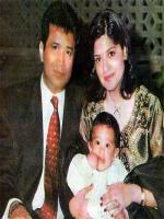 Ishtiaq Baig with Wife and Daughter