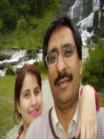 Javed Chaudhary with his Wife