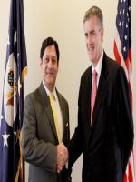 Javed Malik  and US Ambassador