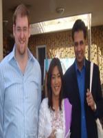 Kiran and George with Talat Hussain