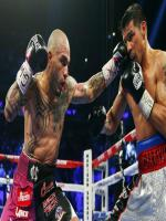 Cotto Punching Martinez During Title Fight