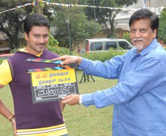 Aditya (Kannada actor) durring shooting