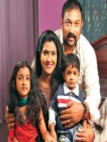 Baburaj (actor) with family