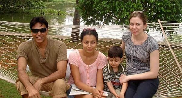 Babu Antony with family