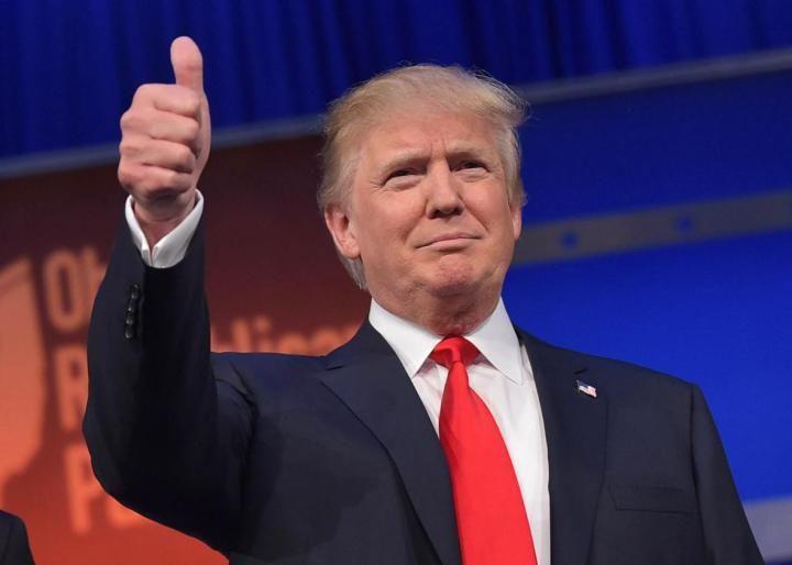 Donald Trump after speech