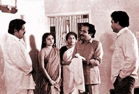 Balan K. Nair with family