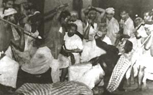Bijon Bhattacharya  in action