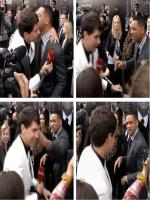 Ukrainian TV reporter Vitalii Sediuk is accused of hitting Brad Pitt i