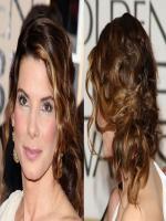Sandra Bullock unique hair style
