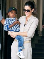 Sandra Bullock with baby