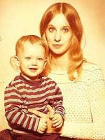 Eminem with his mother