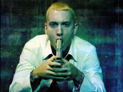 Eminem with gun