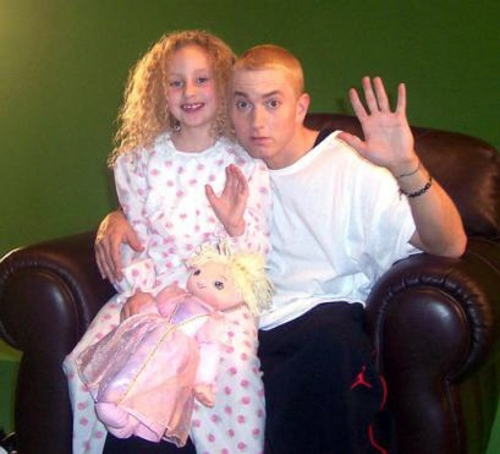 Eminem with her daughter