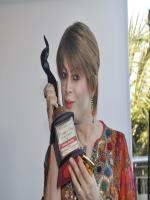 Bobby Darling with her award trophy