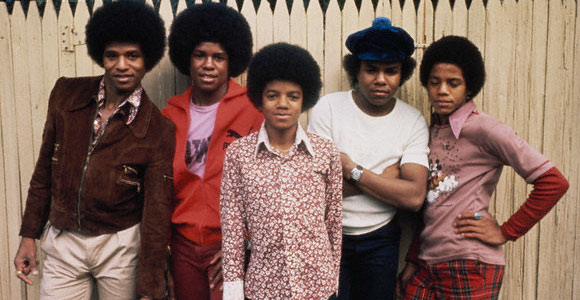 Michael Jackson With his brothers
