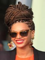 Beyonce Knowles with braid