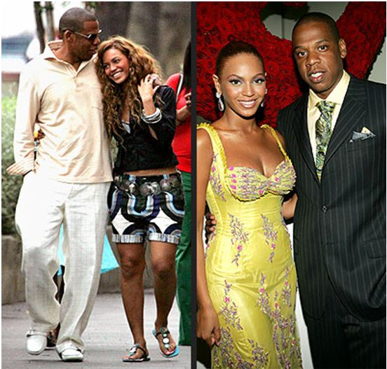 Beyonce with Jay-z