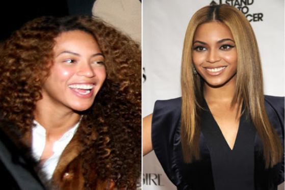 Beyonce Knowles without makeup