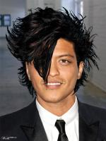 Bruno Mars new hair style