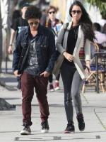 Bruno Mars with her girlfriend