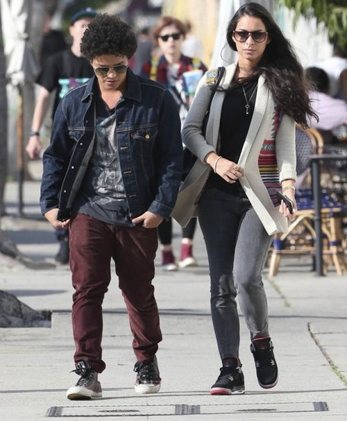 Bruno Mars with her girlfriend