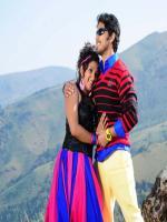 Aishwarya Nag, Chetan Chandra in a movie
