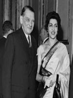 President Iskander Mirza with his wife