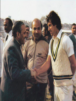 Muhammad Zia-ul-Haq with Imran Khan