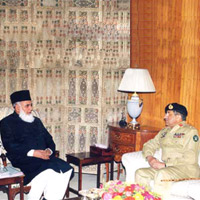 Muhammad Rafiq Tarar and General Pervaiz Musharaf