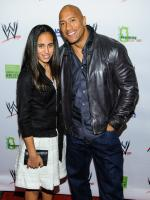 Dwayne The Rock Johnson Daughter in 2013