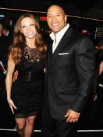 Dwayne Johnson with his Girl Friend
