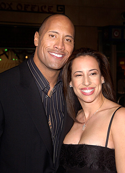 Dwayne Johnson With His Wife