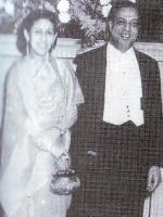 Muhammad Ali Bogra with his wife