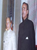 Prime Minister Muhammad Khan Junejo arrives at the UN 1987