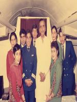 Muhammad Khan Junejo with PIA staff,