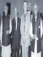 Sardar Mir Balakh Sher Khan Mazari with other leaders