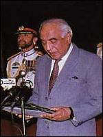 Malik Meraj Khalid Durring speech
