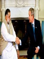 Zafarullah Khan Jamali with George Bush