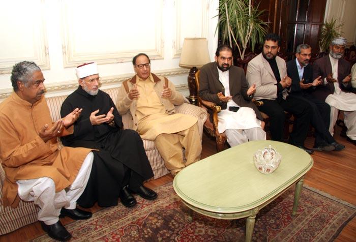 Shaykh-ul-Islam condoles with Chaudhry Shujaat Hussain